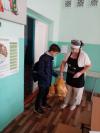 Во время дистанционного обучения обучающиеся #Чёрновскойшколы, имеющие право на получение бесплатного питания, получают наборы продуктов питания в виде сухого пайка
