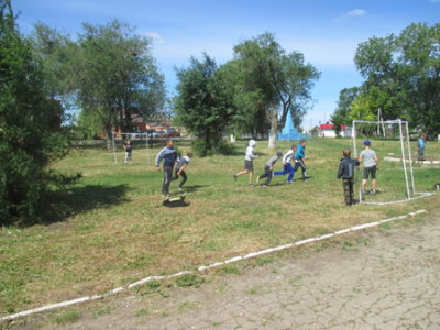 Дворовый футбол в селе Чёрновка