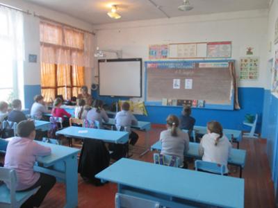 Громкие чтения «Читаем произведения Гайдара» в Чёрновской школе