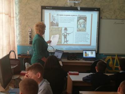 22 мая в начальных классах Чёрновской школы прошло библиотечное занятие-знакомство с журналом «Мурзилка–журнал рекордсмен»