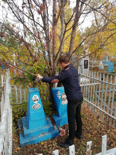 6 октября в с. Чёрновка прошла акция «Воинские захоронения».
