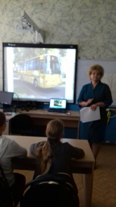 В 5 классе Чёрновской школы прошёл необычный урок по совершенствованию знаний учащихся по правилам дорожного движения