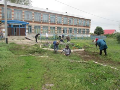 Схранение чистоты на школьной территории
