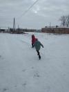 Ребята Чёрновской школы проводят игры на свежем воздухе  «ПРОкачайЗИМУ»