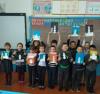Ребята 2 класса Чёрновской школы во время зимних каникул с большим удовольствием посещают «Творческую мастерскую». Охотно рисуют, лепят, выполняют аппликацию.